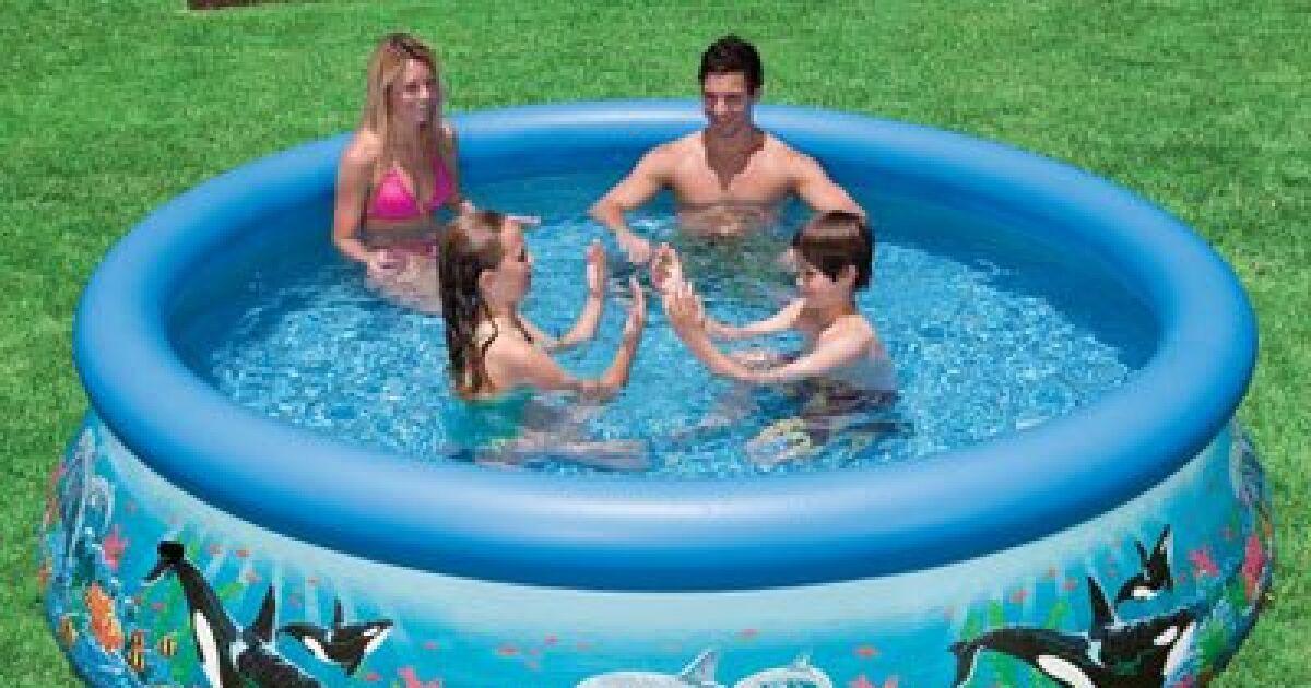 Une piscine intex autoportante une marque renomm e de for Piscine 1m22