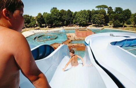 """Sensations fortes à la piscine de Gondrin !<span class=""""normal italic petit"""">DR</span>"""