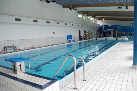 """Le grand bassin de natation de la piscine communautaire à Vireux-Wallerand<span class=""""normal italic petit"""">DR</span>"""