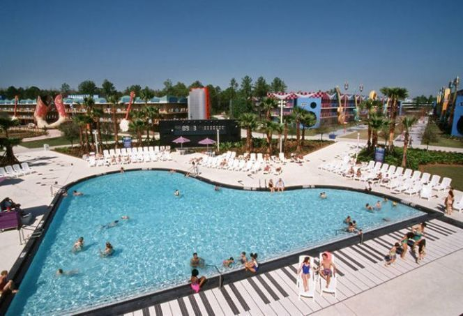 Piscine piano du Walt Disney's All Star Music Resort à Orlando
