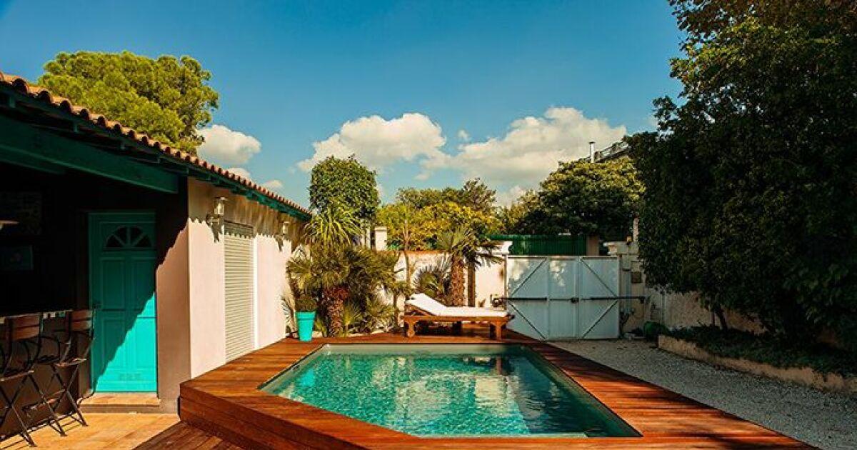 Photos de piscines semi enterr es piscine semi enterr e - Hivernage piscine bois semi enterree ...