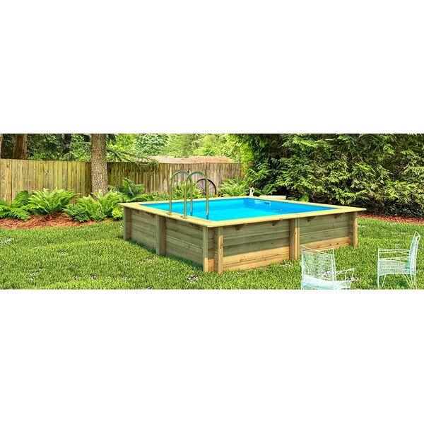 D couvrez les piscines bois en kit de procopi for Piscine semi enterree en kit