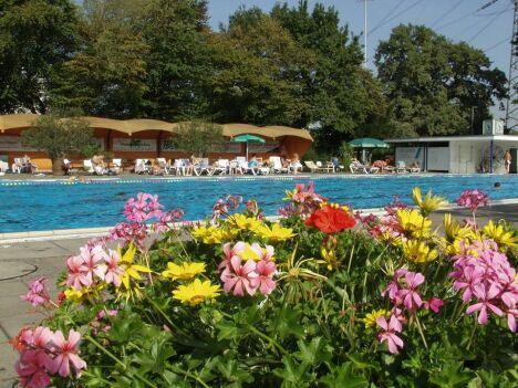 """La piscine extérieure Sonnenbaden à Karlsruhe<span class=""""normal italic petit"""">DR</span>"""