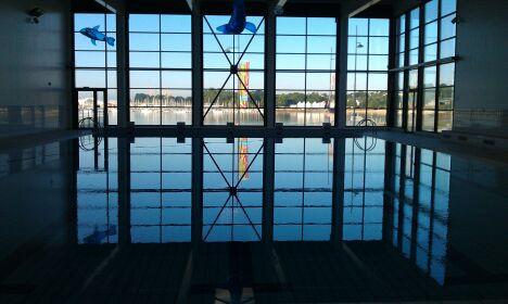 Le bassin sportif de la piscine à le Relecq Kerhuon