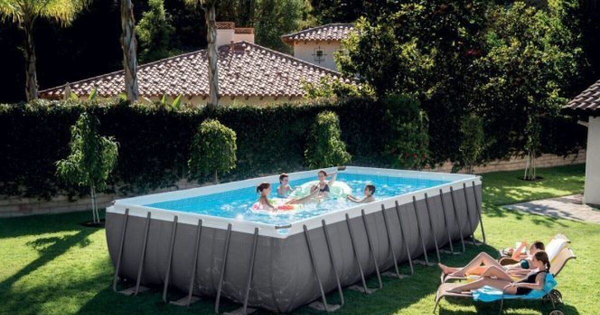 piscine tubulaire rectangulaire ultra silver intex piscine hors sol intex piscine. Black Bedroom Furniture Sets. Home Design Ideas