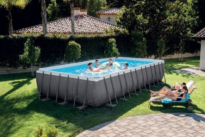 Piscine tubulaire rectangle Ultra Silver