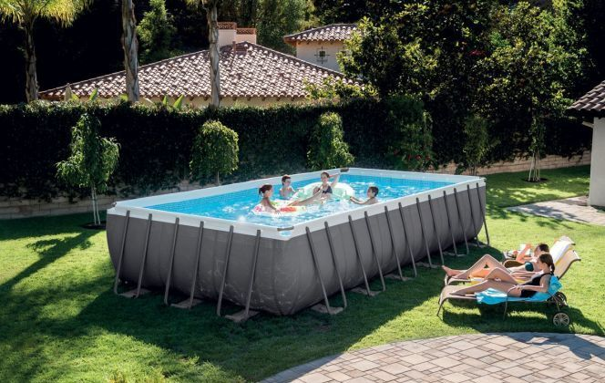 Piscine tubulaire rectangle Ultra Silver © Intex