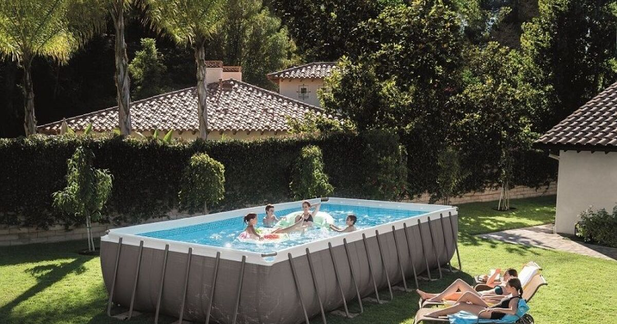la piscine tubulaire rectangulaire. Black Bedroom Furniture Sets. Home Design Ideas