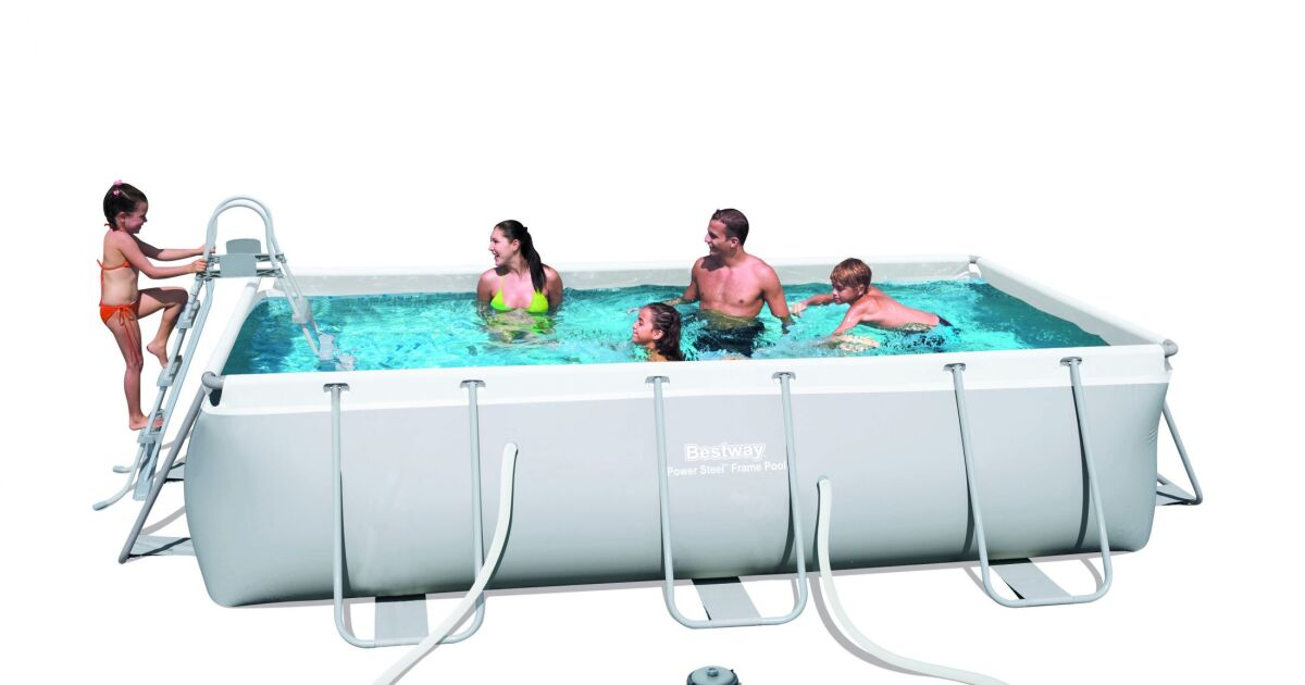 Piscine tubulaire rectangulaire bestway for Bestway piscine