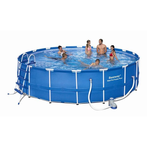 Piscine tubulaire ronde bestway for Piscine tubulaire ronde 2 44