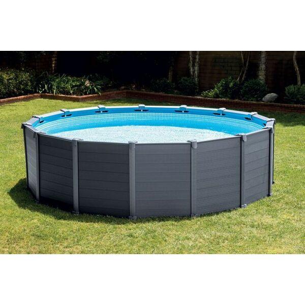 piscine tubulaire ronde graphite intex piscine hors sol. Black Bedroom Furniture Sets. Home Design Ideas
