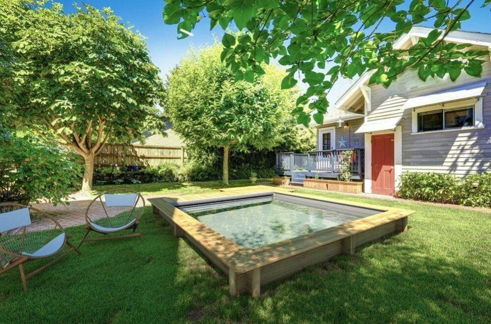 Piscine Urbaine : la petite piscine hors-sol en bois de Procopi© Procopi