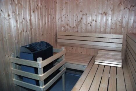 "Piscine Capoolco : le sauna<span class=""normal italic petit"">DR</span>"