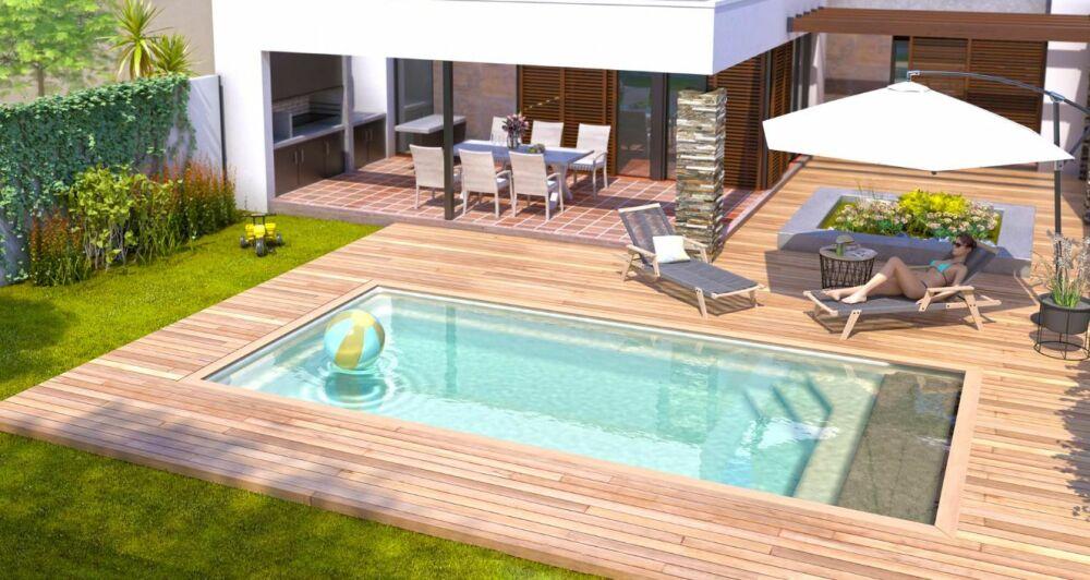 Piscines Ibiza présente sa nouveauté 2021 : la piscine coque Arizona © Piscines Ibiza