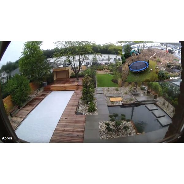 timelapse l am nagement d un jardin avec piscines magiline. Black Bedroom Furniture Sets. Home Design Ideas