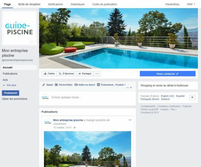 Piscinistes : créez votre page Facebook en 4 étapes