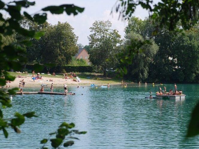 Plan d'eau à Benfeld