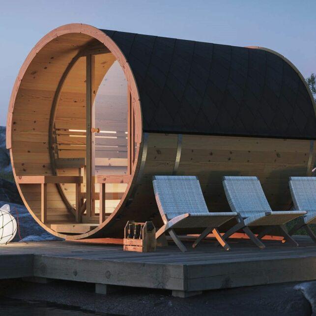 Un sauna extérieur original pour une oasis de relaxation