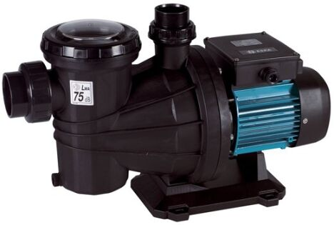 """Pompe centrifuge, auto-amorçante avec pré-filtre incorporé<span class=""""normal italic petit"""">© Mareva - Piscines & Filtrations</span>"""