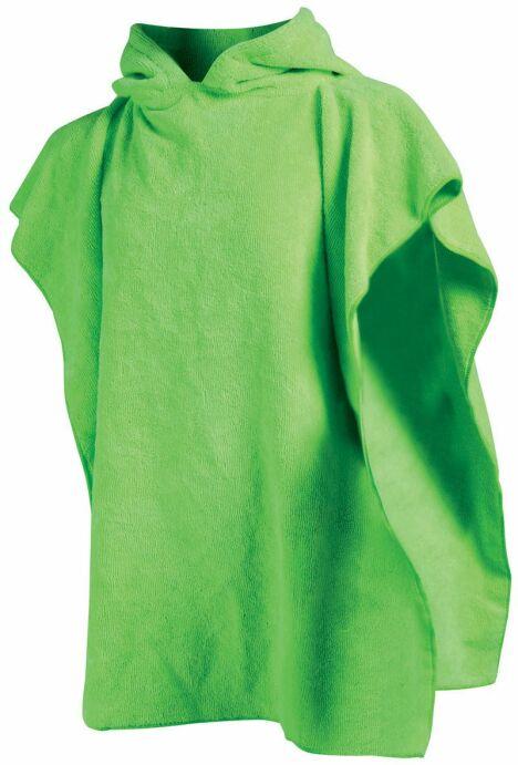 """Poncho enfant absorbant piscine et plage vert acidulé<span class=""""normal italic petit"""">© Arena</span>"""