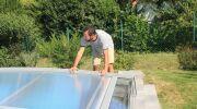 Pose d'un abri de piscine