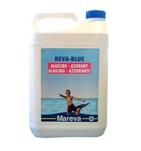 """Produit de traitement anti-algues piscine Reva-Blue<span class=""""normal italic petit"""">© Mareva</span>"""