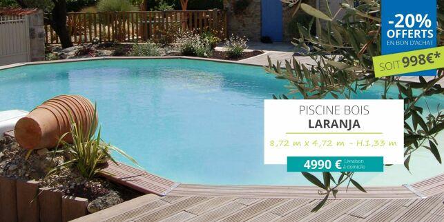 Promotion Jardimagine : piscines hors-sol en bois