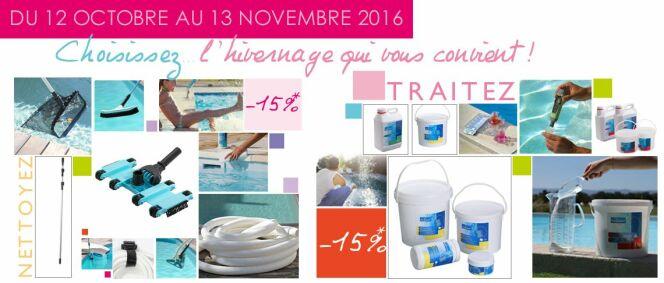 """Promotions sur les articles d'hivernage chez Desjoyaux<span class=""""normal italic petit"""">© Piscines Desjoyaux</span>"""