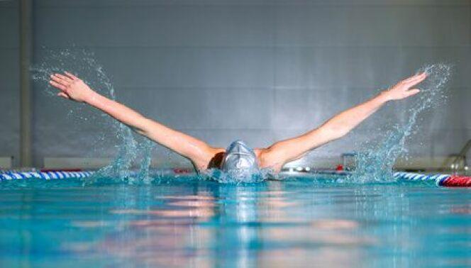 """Propulsion par les bras en natation<span class=""""normal italic petit"""">DR</span>"""