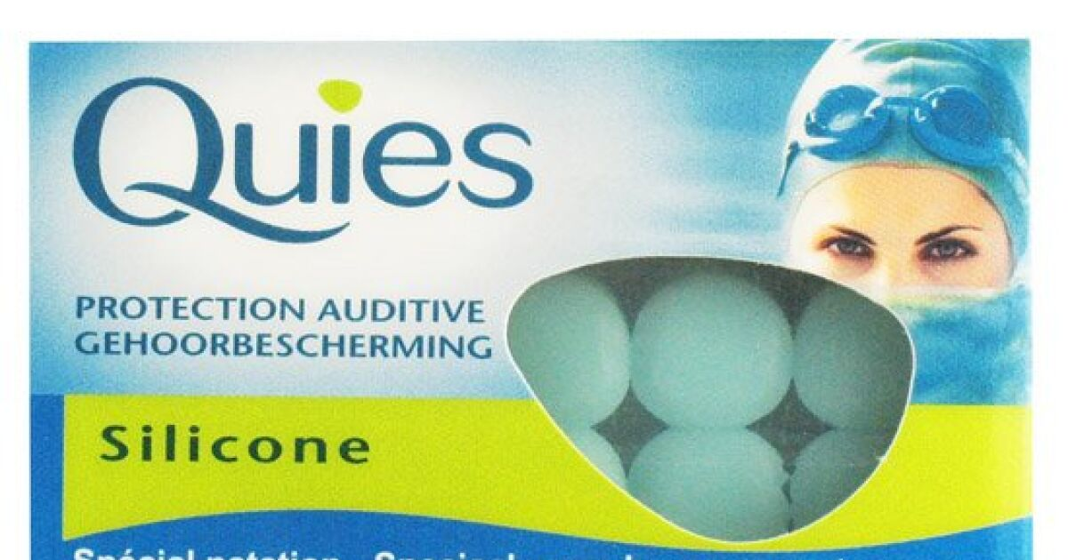 Protections auditives silicone pour nager quies for Bouchons oreilles piscine