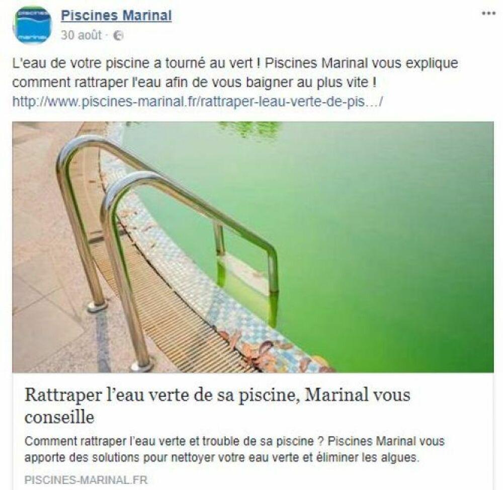 Publications de saison© Page Facebook Piscines Marinal