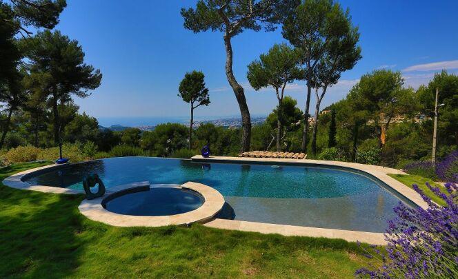 Quelle forme de piscine choisir ? Ici une piscine de forme libre, à débordement, avec belle vue