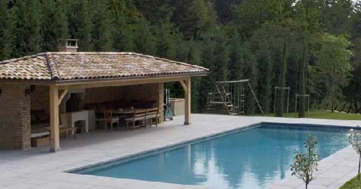 cuisine d ete autour de la piscine. Black Bedroom Furniture Sets. Home Design Ideas