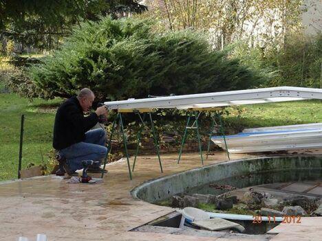 réparation d'un abri de piscine