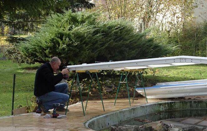 réparation d'un abri de piscine © Cover Services