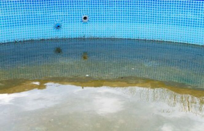 """Retirer le sable et les débris dans le fond d'une piscine <span class=""""normal italic petit"""">© dmitrimaruta - Fotolia</span>"""