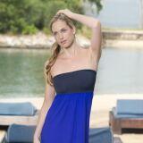 Robe de plage bustier bleu Jog Swimwear