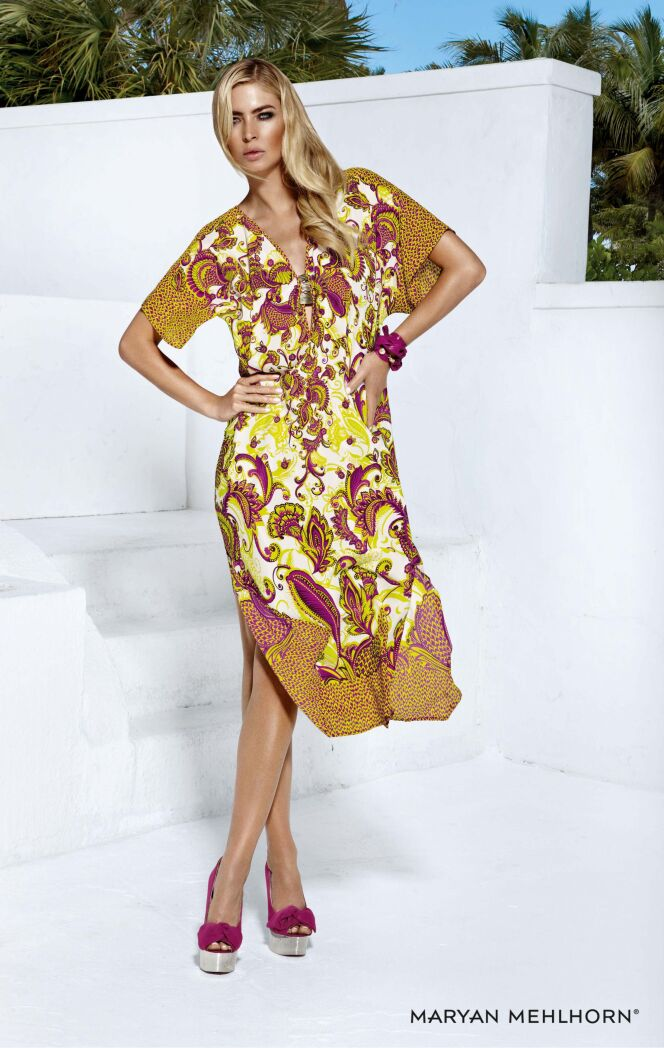 Robe de plage motif cachemire collection Shangri-La Love (Maryan Mehlhorn été 2013)