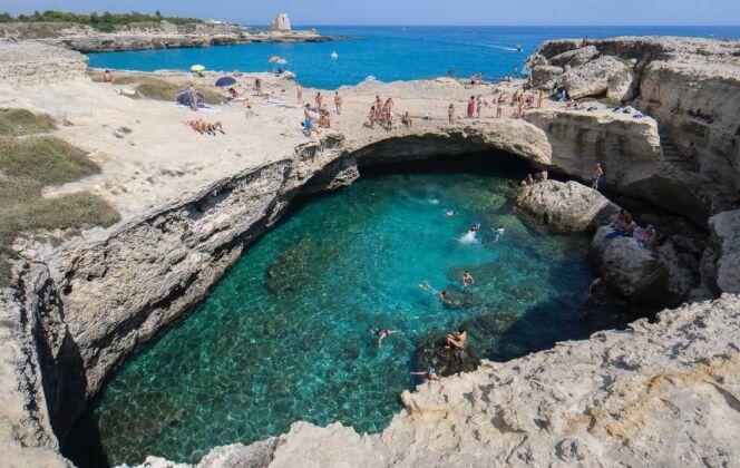 """Roca Veccia, aussi appelée """"Grotta della Poesia"""", en Italie. © Angelo Pentassuglia - Flickr"""