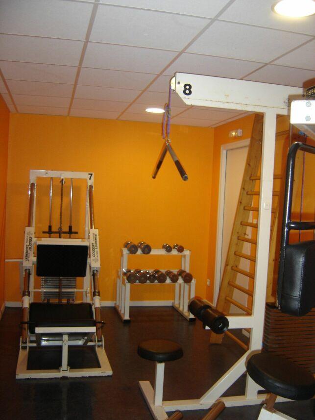 Salle de musculation de l'hôtel