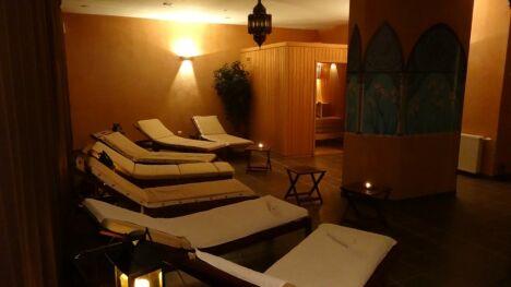 "Salle de repos et sauna<span class=""normal italic petit"">DR</span>"
