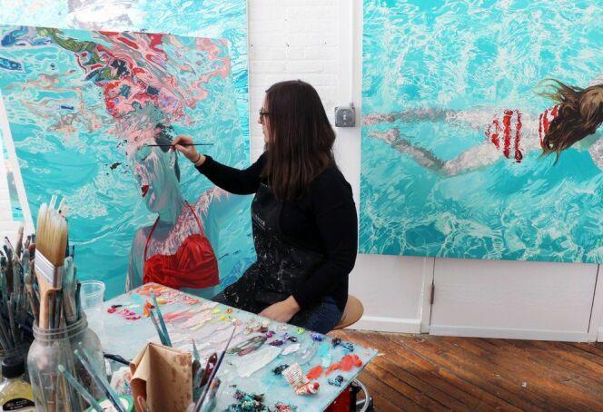 Samantha French dans son atelier