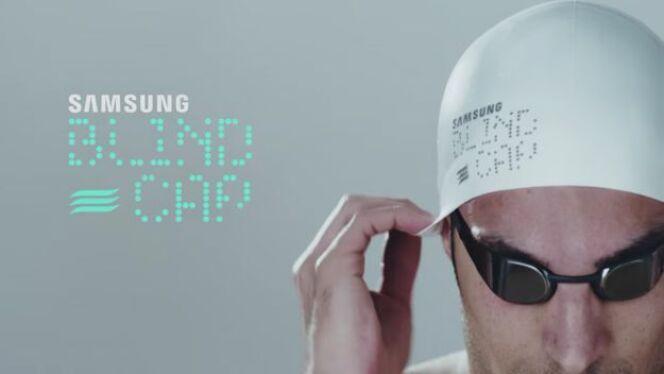 """Samsung lance un bonnet connecté pour les nageurs handisport<span class=""""normal italic petit"""">© Samsung</span>"""