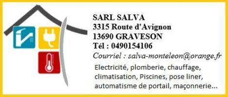 "Sarl Salva (Piscines Magiline) à Graveson<span class=""normal italic petit"">© Sarl Salva</span>"