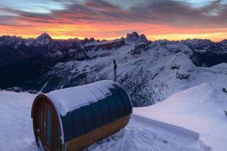Un sauna à 3000m d'altitude en Italie