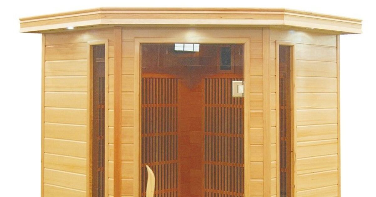 sauna infrarouge 2 3 places neowarm de warmeo. Black Bedroom Furniture Sets. Home Design Ideas