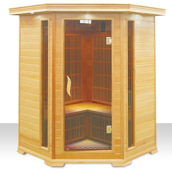 sauna infrarouge 2 3 places neowarm de warmeo. Black Bedroom Furniture Sets. Home Design Ideas