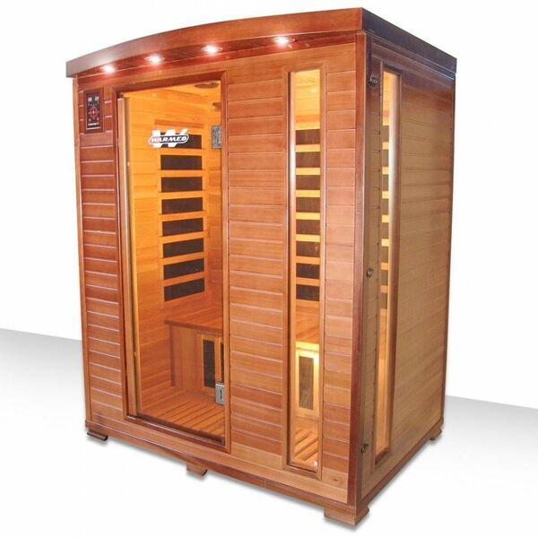 Sauna infrarouge cedawarm 3 places de warmeo - Sauna infrarouge 3 places ...