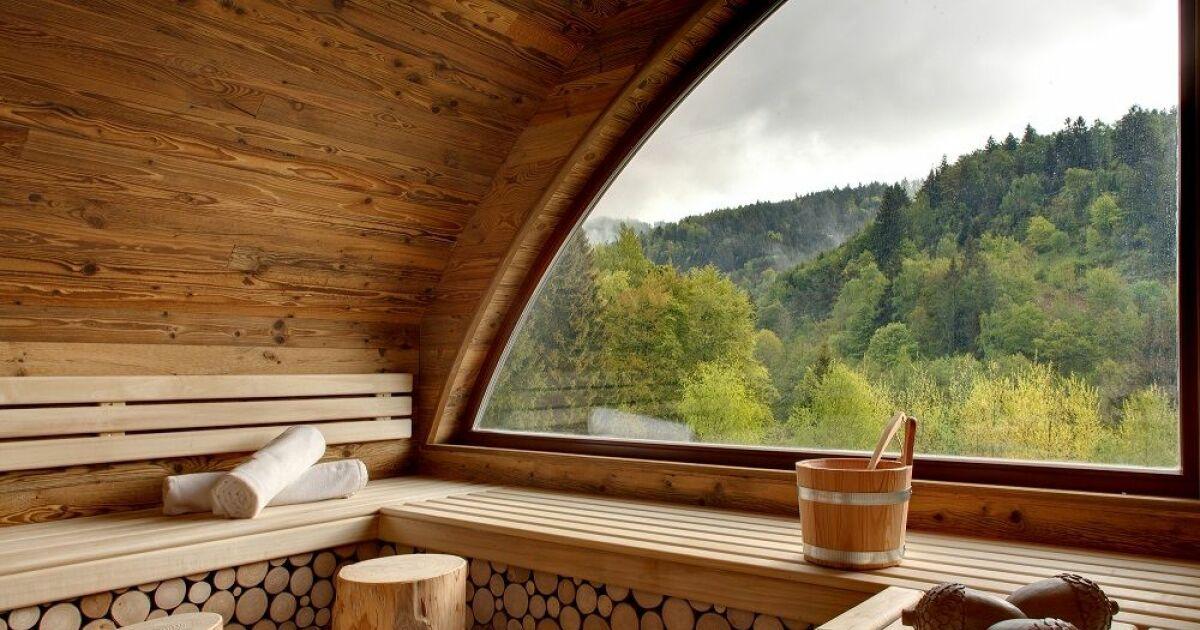 Notre s lection des plus beaux saunas en photos for Piscine sauna