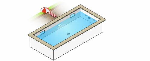 Schémas emplacement pièce à sceller piscine